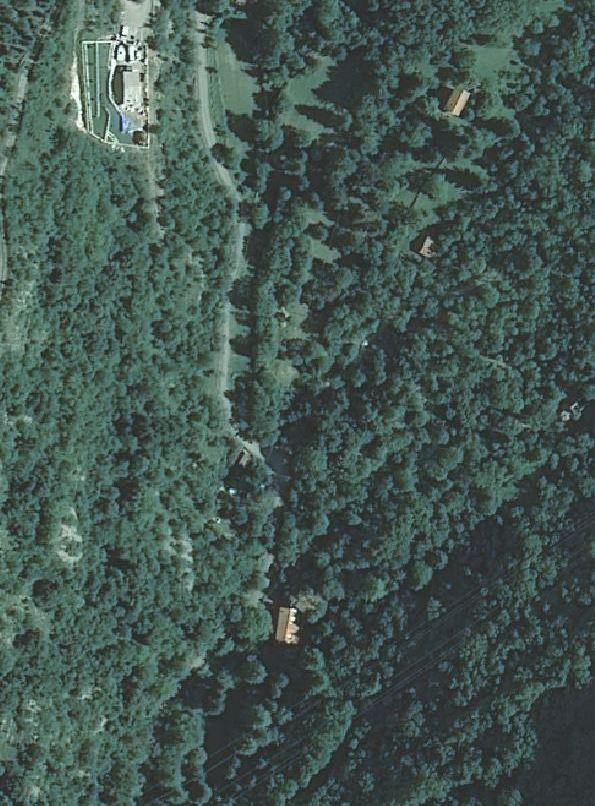 La Casa di caccia di Laghel vista dall'alto